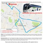 Free bus from Penrith to Festival - Map